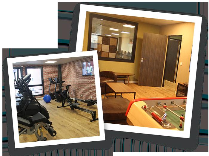 espace de detente et salle de sport/gym à workinvarenne